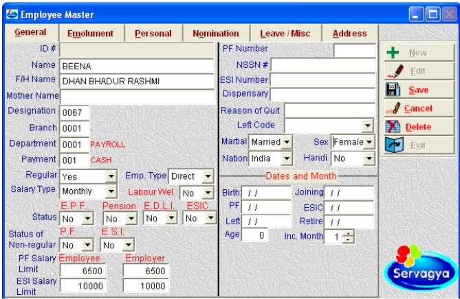 Servagya Payroll Software Complete Payroll With Pf
